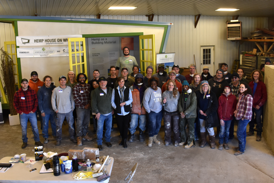 group photo of hempcrete event